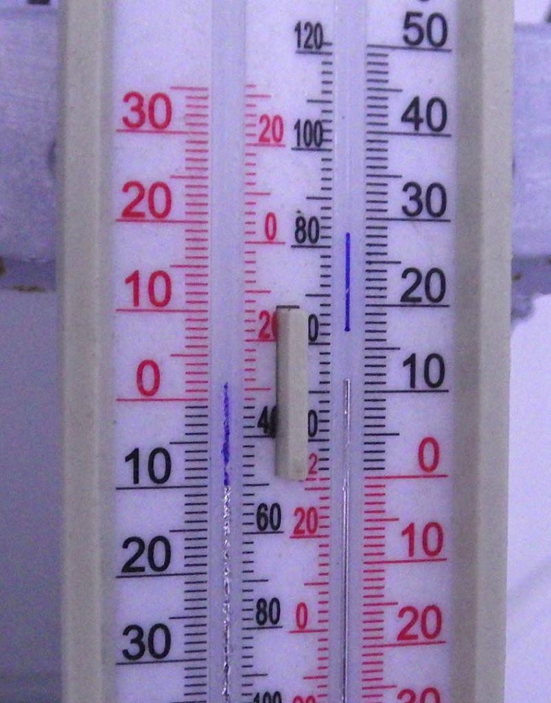 Prior five-day max/min temperature on 24 January 2016