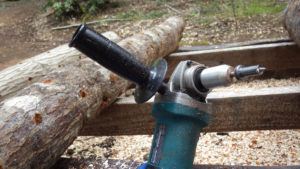 high-speed drill using angle grinder